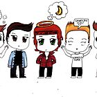 """""""Chibi Direction"""" - One Direction by laufeyson"""
