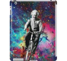 Albert Einstein fait du velo  iPad Case/Skin