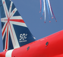The Reds - 50 Display Seasons - Farnborough 2014 Sticker