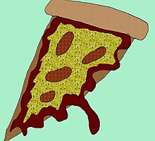 Slice Of Pizza Colourful Collage by duckpie