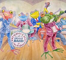 Froggy Band (Pillows & Totes) by Wil Zender