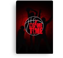 It's Game Time - Red Canvas Print
