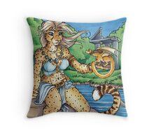 Cheetah Lake  Throw Pillow