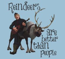 Kristoff and Sven Reindeers are better than people by sweetsisters