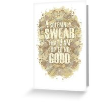 Up To No Good Greeting Card