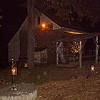 Ghostly Apparition Outside Stone Cottage, Sleepy Hollow NY by Jane Neill-Hancock