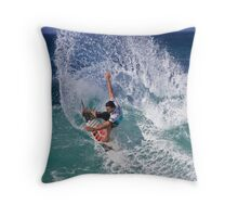 Joel Parkinson 2 At 2010 Billabong Pipe Masters In Memory Of Andy Irons Throw Pillow