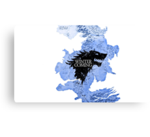 game of thrones-winter is coming Canvas Print