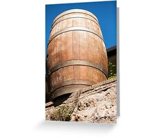 Old barrel for wine Greeting Card
