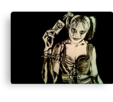 Harley Quinn - Arkham City Canvas Print