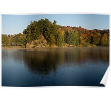 Bright and Sunny Fall Reflections Poster