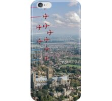 Red Arrows over Lincoln smoke on iPhone Case/Skin