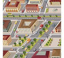 Retro city Photographic Print