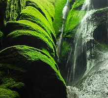 Mossy Waterfall - Nature Photography by JuliaRokicka