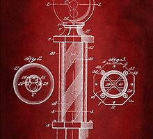 Barber Pole Patent 1916 by Patricia Lintner