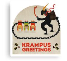 Krampus Greetings Canvas Print
