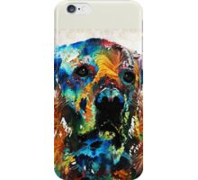 Colorful Dog Art - Heart And Soul - By Sharon Cummings iPhone Case/Skin