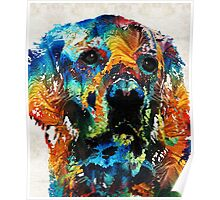 Colorful Dog Art - Heart And Soul - By Sharon Cummings Poster