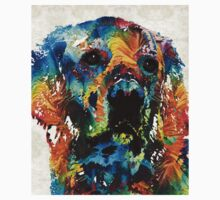 Colorful Dog Art - Heart And Soul - By Sharon Cummings Kids Clothes