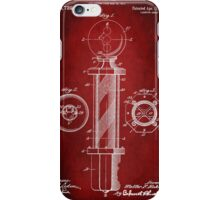 Barber Pole Patent 1916 iPhone Case/Skin
