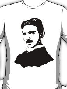 Nikola Tesla Stencil T-Shirt