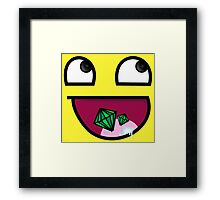 Awesome Face Framed Print