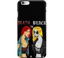 Death Metal Vs. Black Metal: Battle Of The Metals iPhone Case/Skin