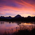 A Teton Sunset by Gary Lengyel