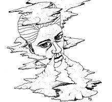 Smoke Witch by tonelokeart