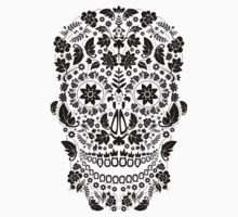 Day of the Dead Skull - Floral sugar skull by Matthew Britton