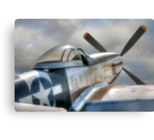 P51 Mustang - Ready for action Metal Print