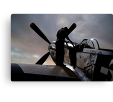 Mustang - Pre flight checks Canvas Print