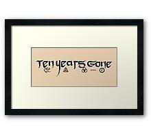 Ten Years Gone Led Zeppelin Framed Print