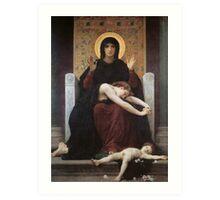 virgin mary ( william adolphe bouguereau ) Art Print