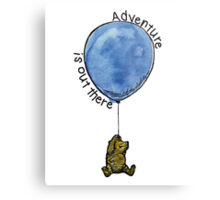 Winnie the Pooh - Adventure is Out There Metal Print