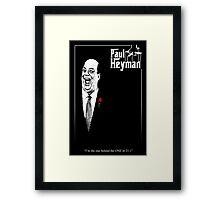 Paul Heyman - Godfather Poster variation Framed Print