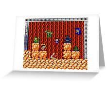 8-bit Justice League/Mega Man Mash-Up Greeting Card