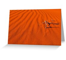 Red Dune Greeting Card