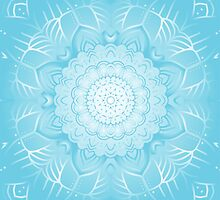 Blue ornamental background by IraMukti