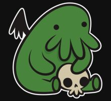Baby Cthulhu (Dark version) by DemonigoteTees