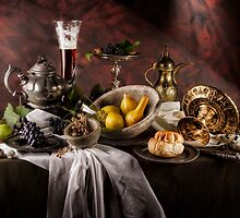 Still Life with Gourds by Jon Wild