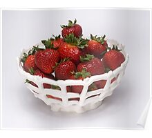 Strawberries in an Eatable Bowl Poster