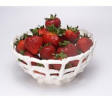 Strawberries in an Eatable Bowl Photographic Print