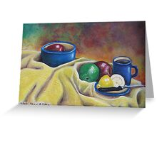 Fruit and Coffee Greeting Card