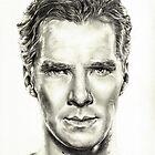 Study of Benedict Cumberbatch by L K Southward