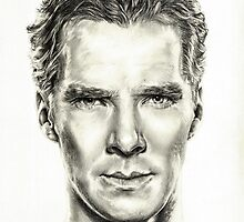 Study of Benedict Cumberbatch by L K Southward