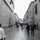 Dubrovnik - Blue street by mikequigley