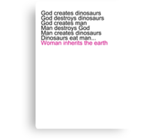 Woman Inherits The Earth Canvas Print