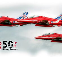 The Red Arrows - 50 Display Seasons Duvets, Cases etc by © Steve H Clark