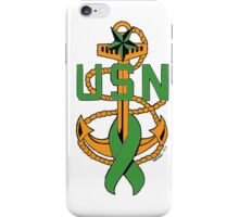 ALL-GREEN SCPO Insignia with Mental Illness Awareness Ribbon iPhone Case/Skin